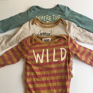 Onesie 3-pack / where the wild things are